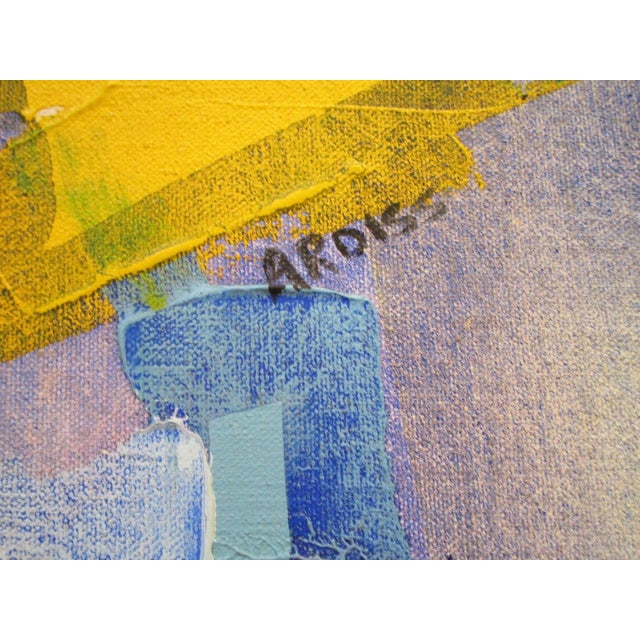 Mid 20th Century Vintage Abstract Expressionism Painting Non Objective Art Pop Expressionist MCM For Sale - Image 5 of 7