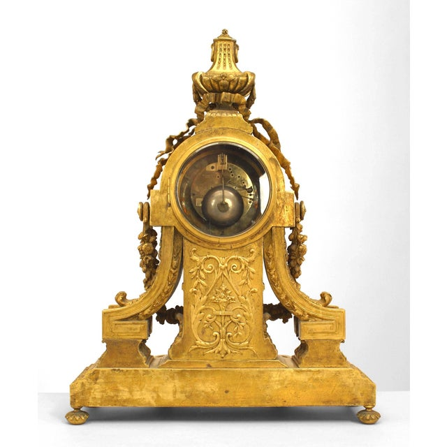 French Louis XVI Style '19th Century' Gilt Bronze Mantle Clock For Sale In New York - Image 6 of 7
