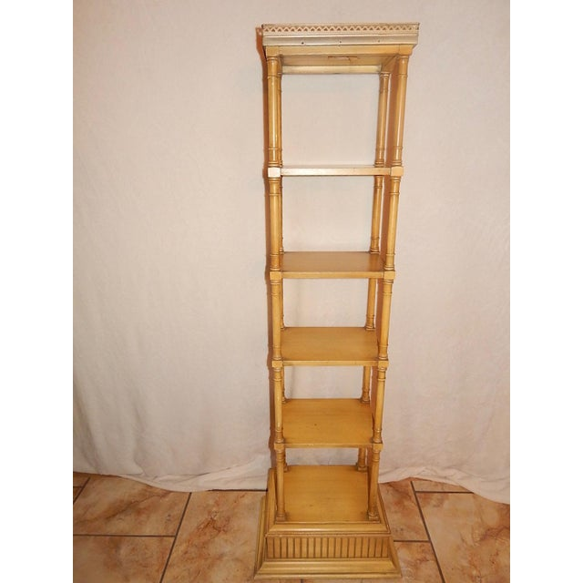 Mid-Century Faux Bamboo Tiered Shelf - Image 2 of 10