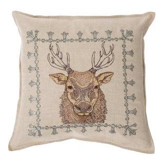 Elk Portrait Pillow