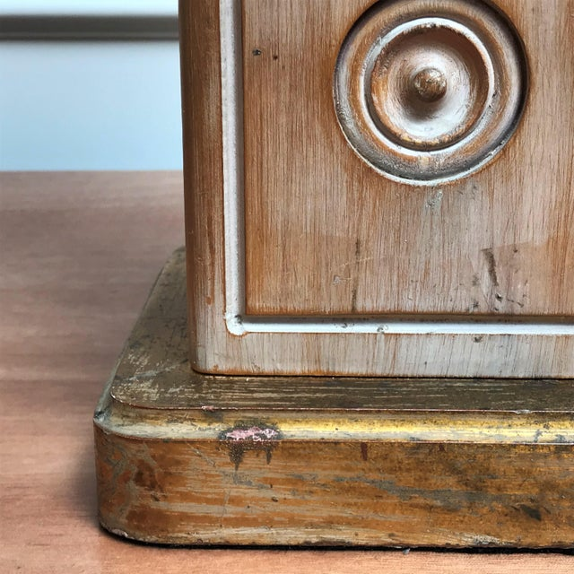 Mid Century Classicism Wood & Gilt Table Lamp For Sale - Image 11 of 13