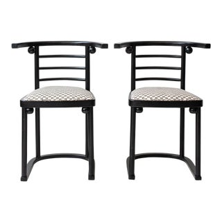 "Pair of Sculptural Josef Hoffman ""Die Fledermaus"" Style Chairs"