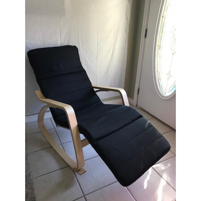 Bentwood Chaise Lounge- Bentwood, Rocker With Adjustable Footrest For Sale - Image 7 of 7