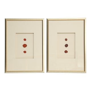 Antique English Red Wax Seal Intaglios Art, a Pair For Sale