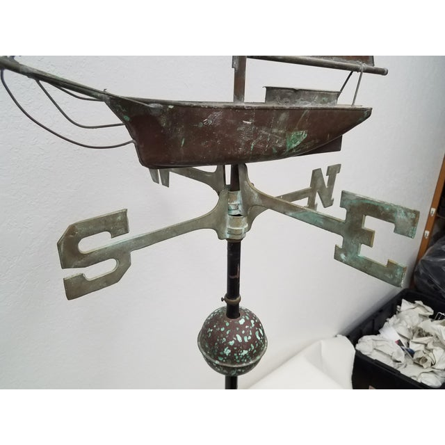 Late 19th Century Antique Copper Boat Weathervane For Sale - Image 5 of 13