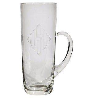 Monogrammed Glass Cocktail Mixer For Sale