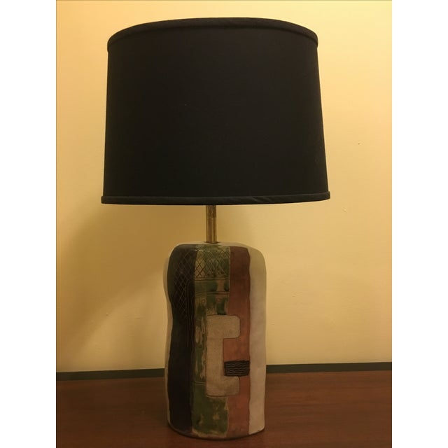 Cubist, Mid-century modern lamp by Marianna Von Allesch. Excellent condition and includes the shade.