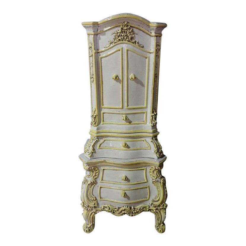 Mid 19th Century Antique French Rococo Style Kachelofen Ceramic Stove Chairish