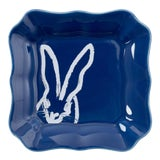Image of Hunt Slonem Blue Bunny Portrait Plate - Set of 2 For Sale