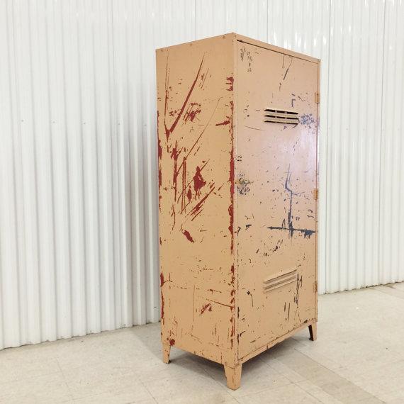Vintage Industrial Steel Storage Cabinet - Image 3 of 6