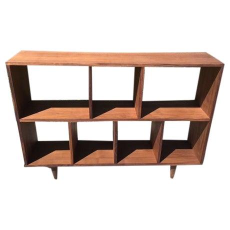 Mid-Century Syle Walnut Bookcase - Image 1 of 4