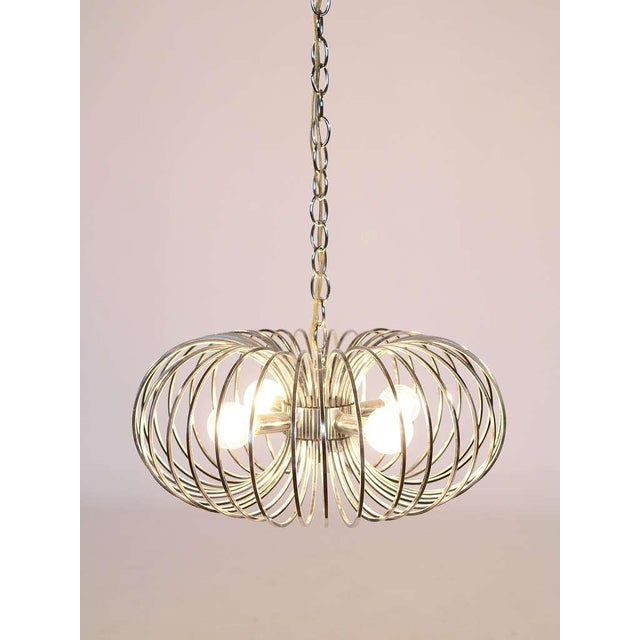 "Gaetano Sciolari ""Cage"" pendant lamp by Lightolier For Sale In Chicago - Image 6 of 11"