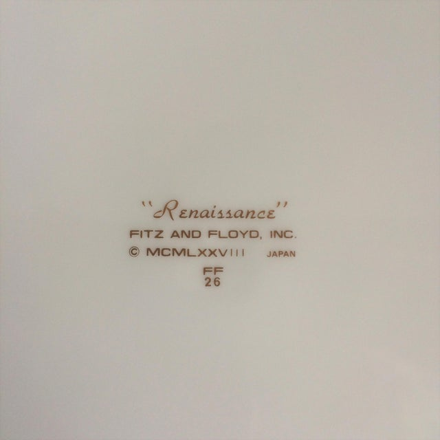 "1970s Fitz & Floyd ""Renaissance"" Magenta Dinner Plates - Set of 4 For Sale - Image 5 of 6"