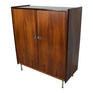 Mid Century Danish Modern Rosewood Highboy Chest of Drawers Storage For Sale