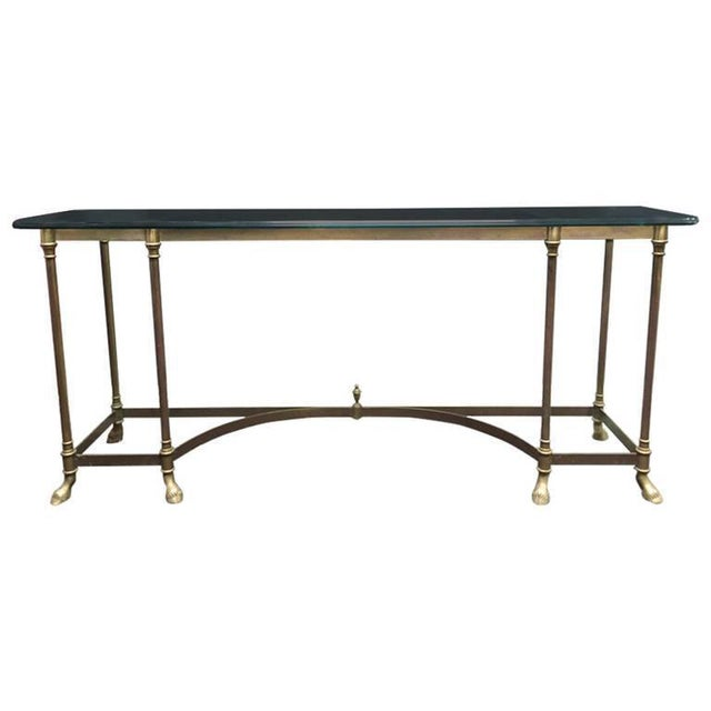 Glass Top & Brass Console - Image 5 of 5