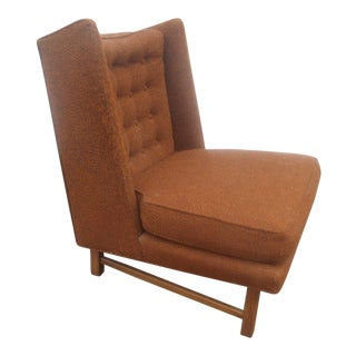 1960s Mid-Century Modern Wormley for Dunbar Wingback Slipper Chair For Sale
