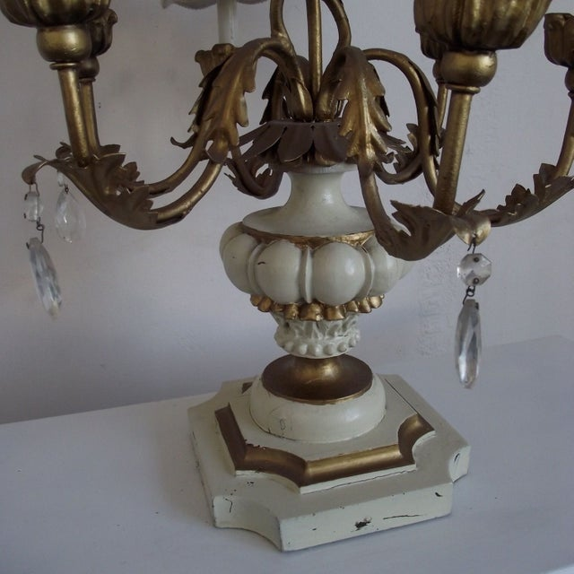 This beautiful tiered table light adds old world European style to current decor. With a dimmer switch, it can add...