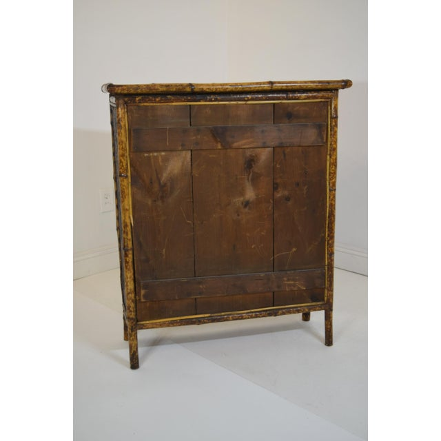 19th-Century Bamboo/Chinioserie Bookcase For Sale - Image 6 of 8