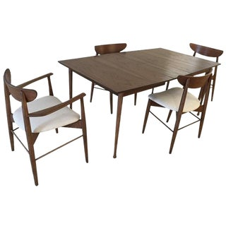 1950s Danish Modern Walnut Dining Set - 5 Pieces For Sale