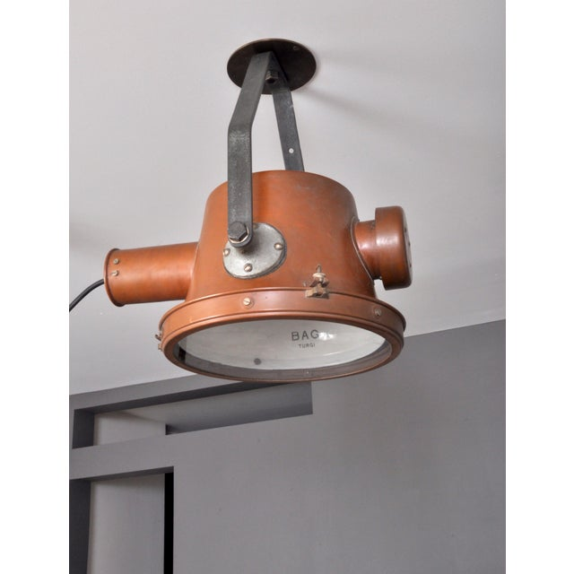 Bag Turgi Copper Lantern, Switzerland 1940s For Sale In New York - Image 6 of 13