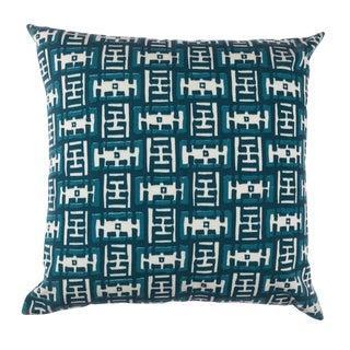 Contemporary Ferrick Mason Mr. Rowe Outdoor Custom Peacock Pillow For Sale