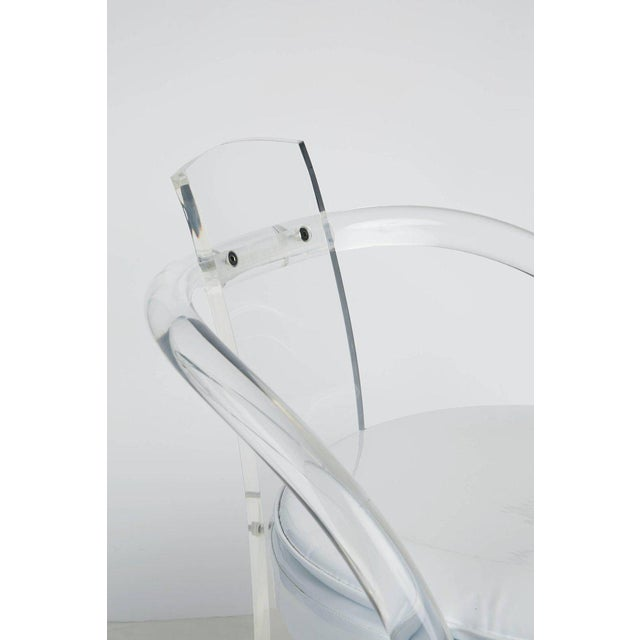 Hill Manufacturing Lucite Waterfall Armchairs - Set of 4 For Sale - Image 10 of 11