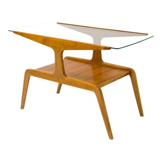 Gio Ponti - Side Table in Wood and Glass - Circa 1950 For Sale