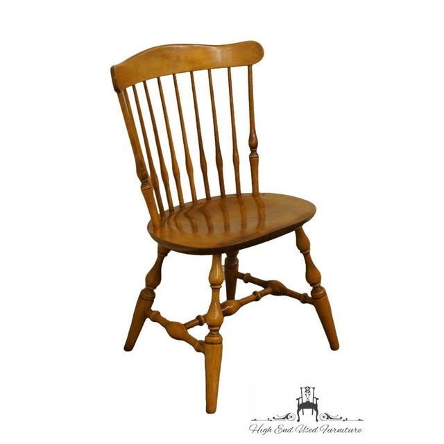 Nichols & Stone Gardener, MA old pine side/accent chair.