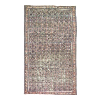 Shabby Chic Antique Persian Rug, 6'11'' X 11'3''