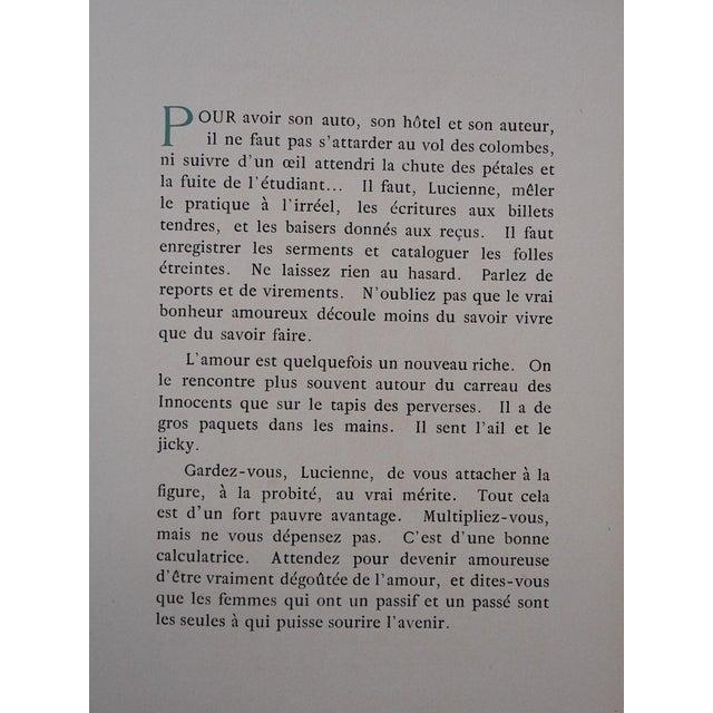 "Vintage Ltd. Ed. Hand Colored Image By Guy Arnoux""Les Femmes De Ce Temps""-L'Interessee- Self Interest-France-1920 - Image 5 of 8"