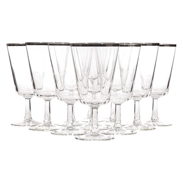 1960's Silver-Rim Water Stems - Set of 11 - Image 1 of 4