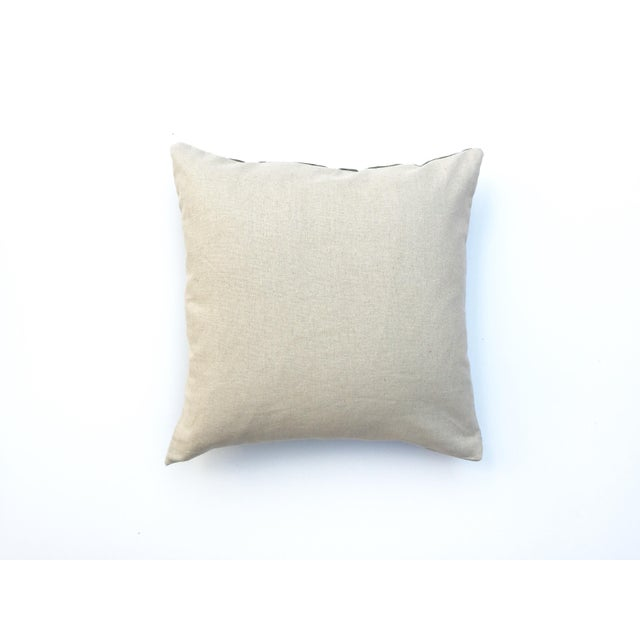 Hand-Dyed Dark Green Tribal Pillow Cover - Image 5 of 5