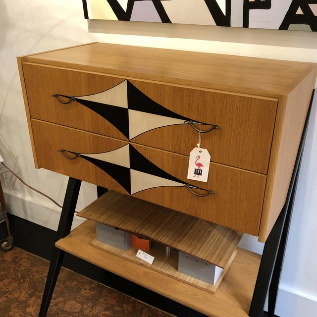 Mid-Century Tall V Leg Cabinet For Sale - Image 4 of 7
