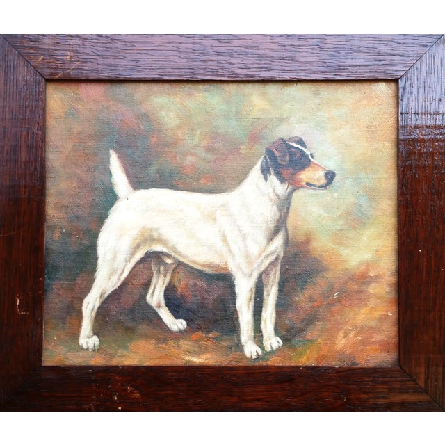 Jack Russell Oil Painting - Image 1 of 5