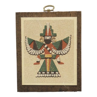 "Vintage ""Zuni Wing Knife Man"" Sandpainting Print For Sale"