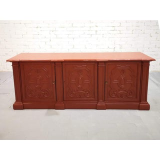 Early 20th C. French Brick Red Country Sideboard Kitchen Buffet Shabby Chic Preview