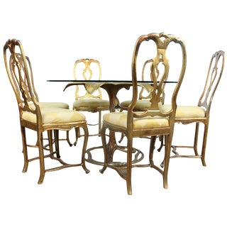 Arthur Court Gilded Lily Dining Set - Set of 7 For Sale
