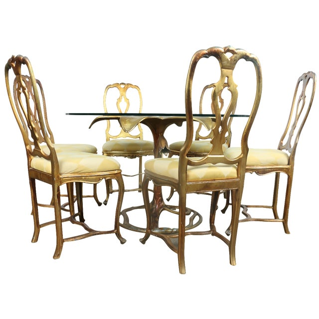Arthur Court Gilded Lily Dining Set - Set of 7 - Image 1 of 10
