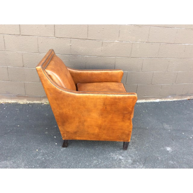 Brown Leather Club Chair For Sale In Los Angeles - Image 6 of 12