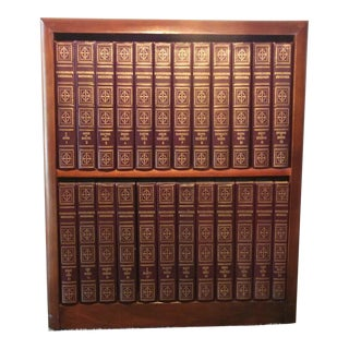 1950s Encyclopedia Britannica Volumes With Custom Bookcase - 24 Books For Sale