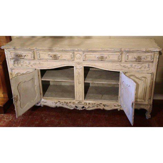 Early 20th Century French Louis XV Carved Painted Buffet - Image 7 of 9