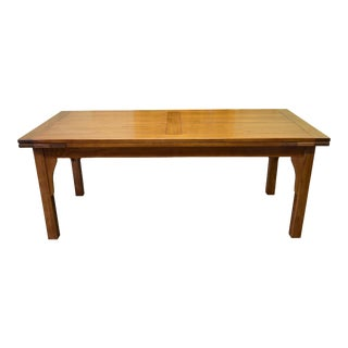 Crafters and Weavers Mission Stow Leaf Dining Table - Light Oak For Sale
