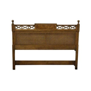 Late 20th Century Vintage Century Furniture Asian Inspired Queen Size Headboard For Sale