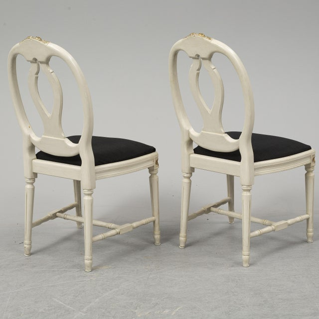 1970s Vintage Gustavian Rose Chairs - Set of 6 For Sale - Image 9 of 10