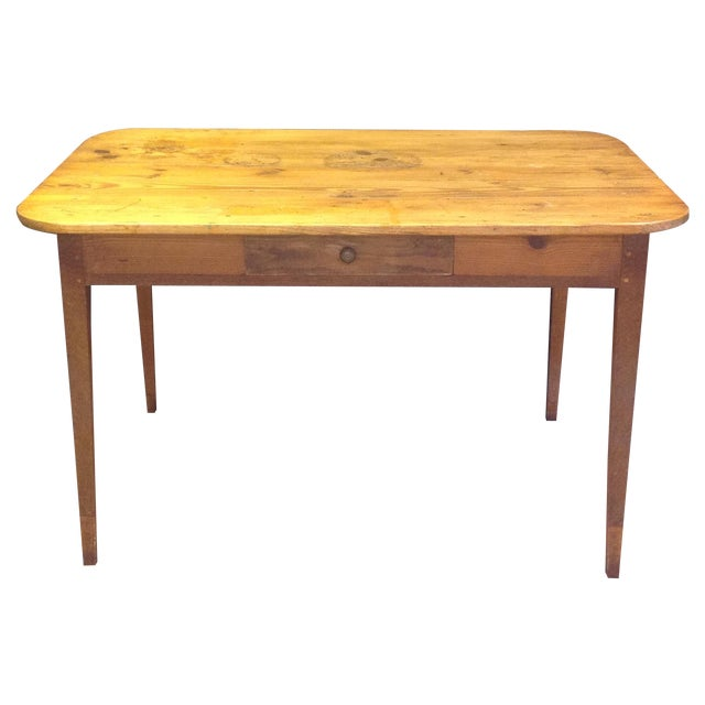 Antique French Pine Table For Sale