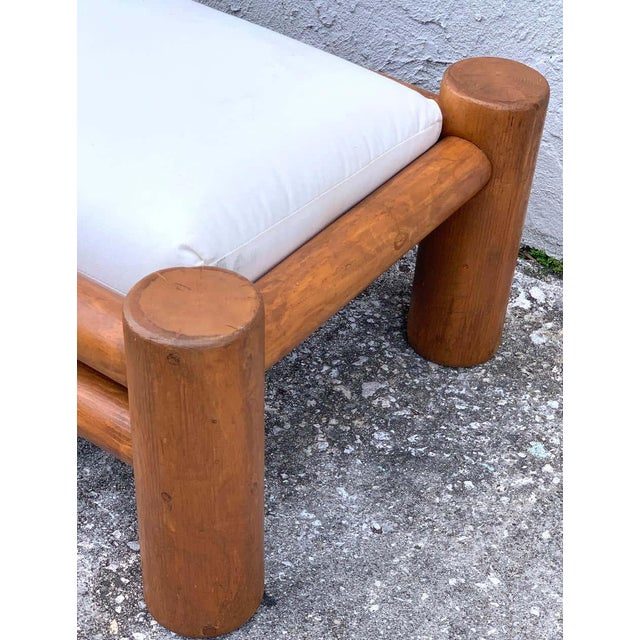 Mid-Century Dowel Lounge Chair and Ottoman For Sale - Image 9 of 10