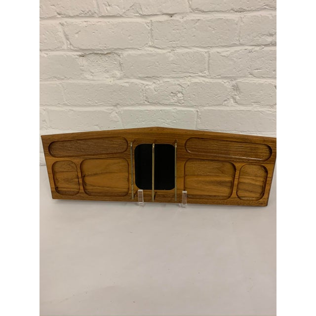 Mid Century Modern Walnut Desk Organizer For Sale - Image 9 of 11