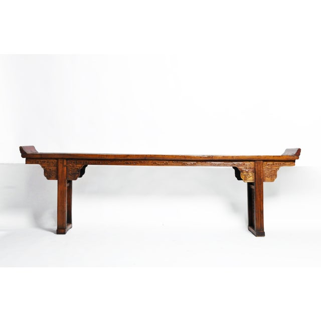 Asian Late Qing Dynasty Chinese Altar Table For Sale - Image 3 of 13
