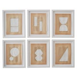 Image of Josh Young Design House - 6 Piece Blanc Géométrique Collection For Sale