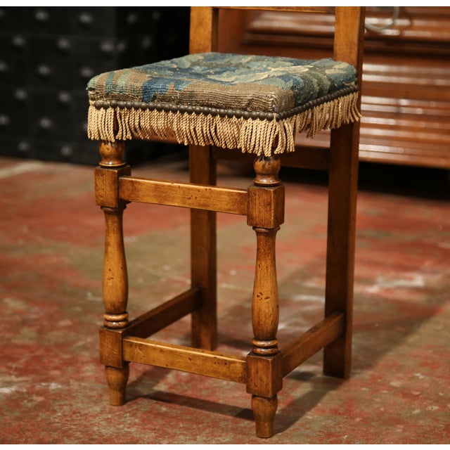 18th Century French Walnut Baby Chair with Aubusson Tapestry For Sale - Image 4 of 9